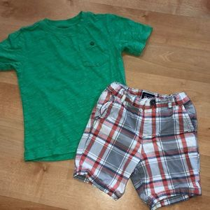 ☄️2pc outfit ☄️boys size 3T outfit  🏈SCORE🏈